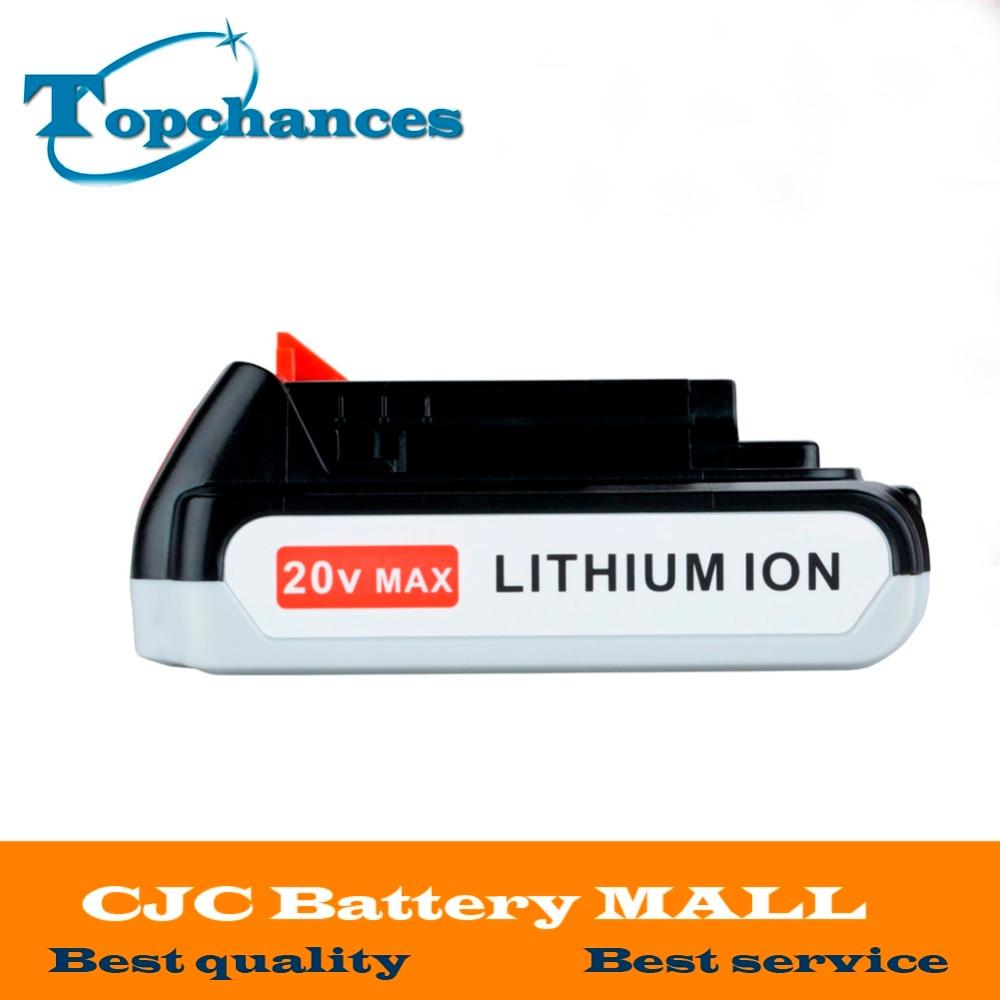 High Quality 20V 2000mAh Li-ion Rechargeable Battery Power Tool Replacement Battery for BLACK & DECKER LB20 LBX20 LBXR20 коврики в салон mercedes benz e class w211 задний привод 2002 2009 4 шт полиуретан серые