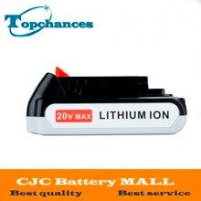 Высокое качество 20 В 2000 мАч литий-ионный Перезаряжаемые Батарея Мощность инструмента Батарея для Black & Decker lb20 lbx20 lbxr20