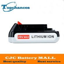 High Quality 20V 2000mAh Li-ion Rechargeable Battery Power Tool Replacement Battery for BLACK & DECKER LB20 LBX20 LBXR20
