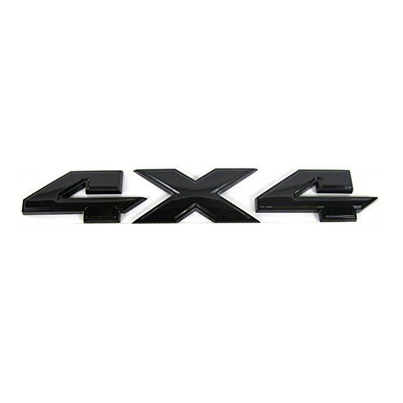 Black Dodge RAM 1500 4X4 Emblem Badge 3D LOGO LETTERS NAMEPLATE 3PCS SET