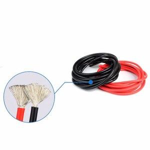 Image 3 - 5 メートル赤 + 5 メートル黒シリコンワイヤー 14AWG 耐熱ソフトシリコンシリカゲル電線の接続ケーブル RC モデルのバッテリー