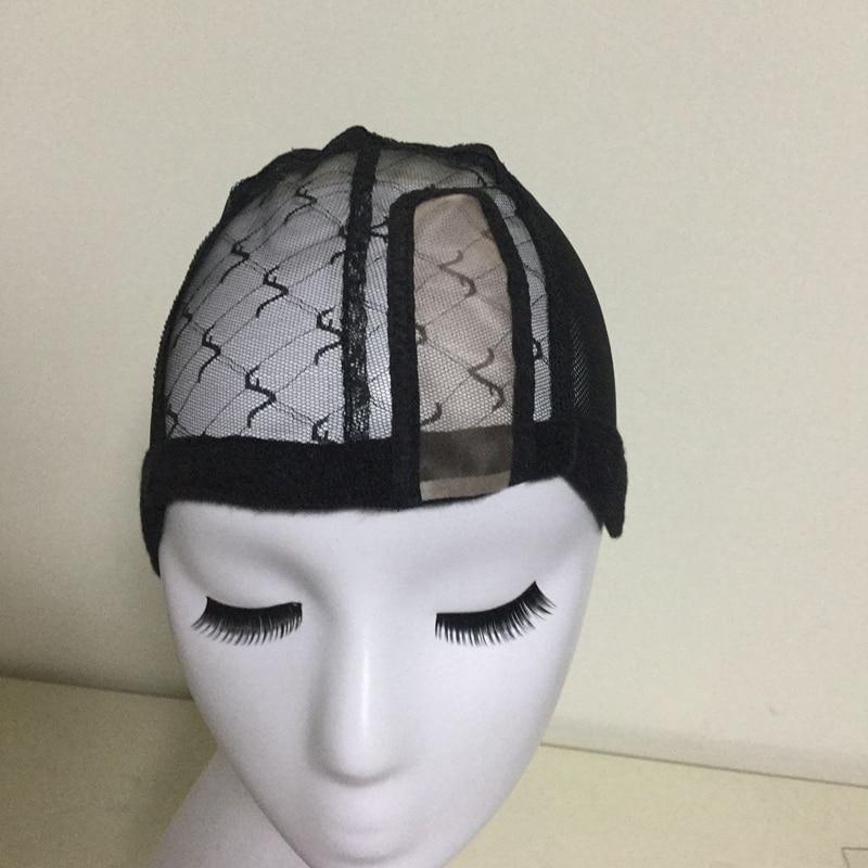 U 부분 조절 가능한 스트랩과가 발을 만들기위한 Glueless 레이스가 발 모자 여자에 대 한 모자를 짜 다 Hair Net & Hairnets Easycap 6008