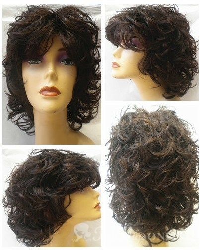 Trendy 100% Indian Remy Hair Full Lace Wig Short Curly Human Hair ...