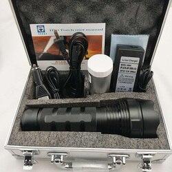 50W Linterna potente HID Xenon luces Zoomable táctico recargable batería impermeable antorcha linterna Led de alto brillo