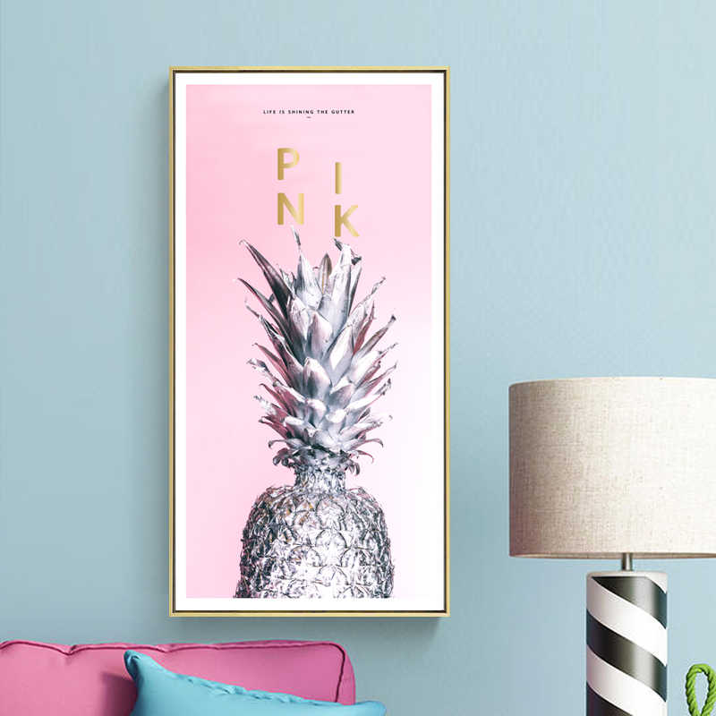 Nordic poster beauty life Pink flowers pictures Modern nature Love live poster canvas painting decor print for living room home