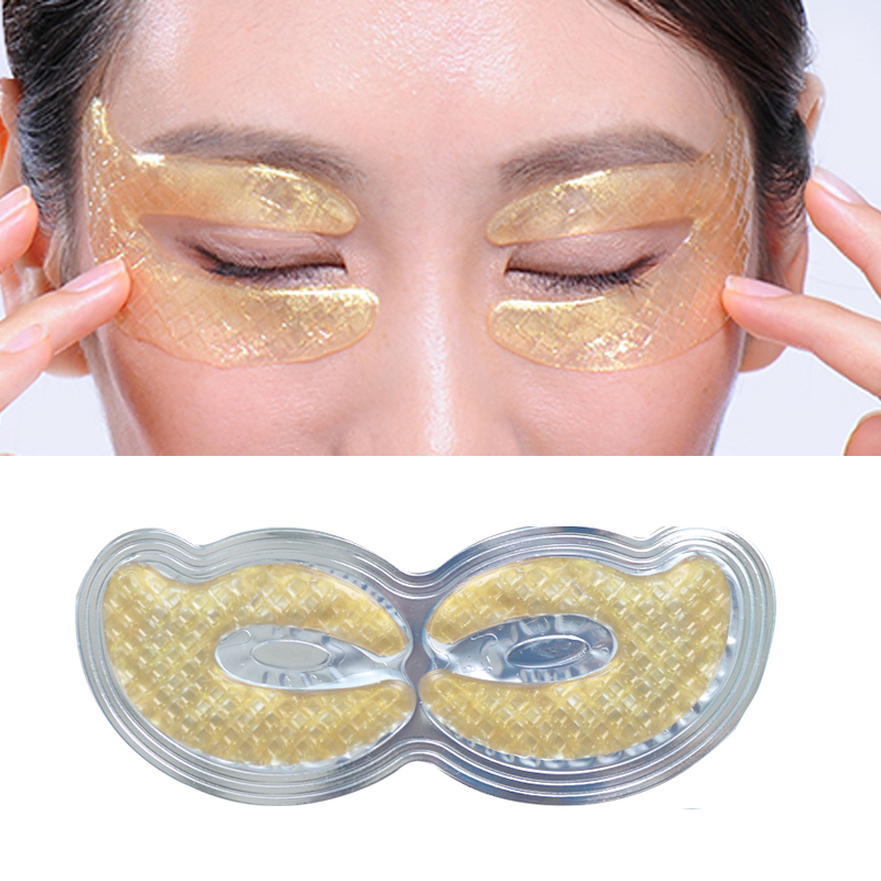 6pcs=3pair Gold Crystal Collagen Eye Mask Eye Patches Masks Dark Circles Pathces Around Eyes Masks Moisturizing Face Care Mask