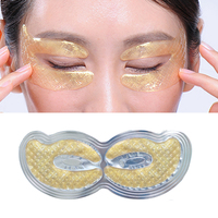 6pcs=3pair Gold Crystal Collagen Eye Mask Eye Patches Masks Dark Circles Pathces Around Eyes Masks Moisturizing Face Care Mask Skin Care
