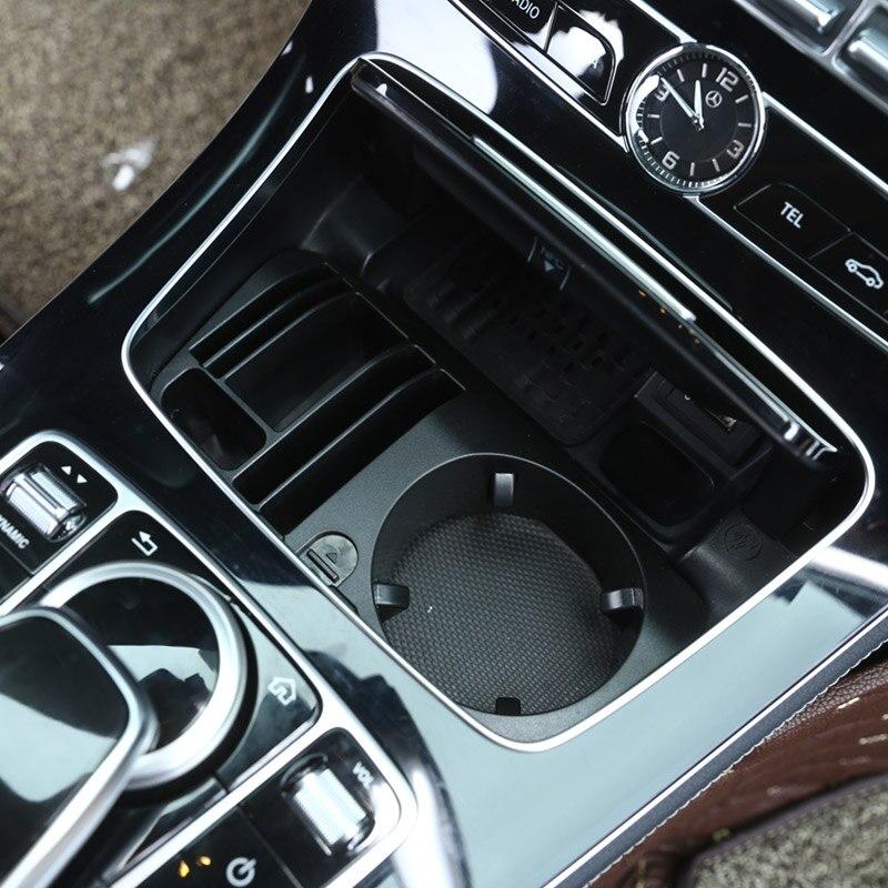 Verre Class Mercedes W213 Voiture De Support Console Style Centrale C W205 Pour Glc X253 En Plastique Benz Classe Rangement E Boîte A5R4Lj