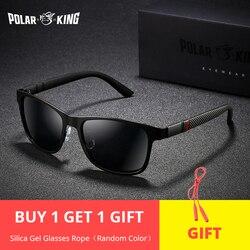 88fd108aa POLARKING العلامة التجارية المعادن مصمم النظارات الشمسية المستقطبة للقيادة  الرجال Oculos مربع نظارات شمسية للرجال الأزياء