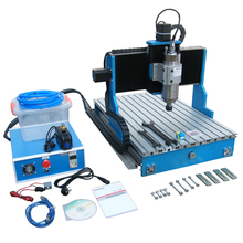 4 axis wood PCB milling machine cnc router 6040 2200W spindle linear guideway Al