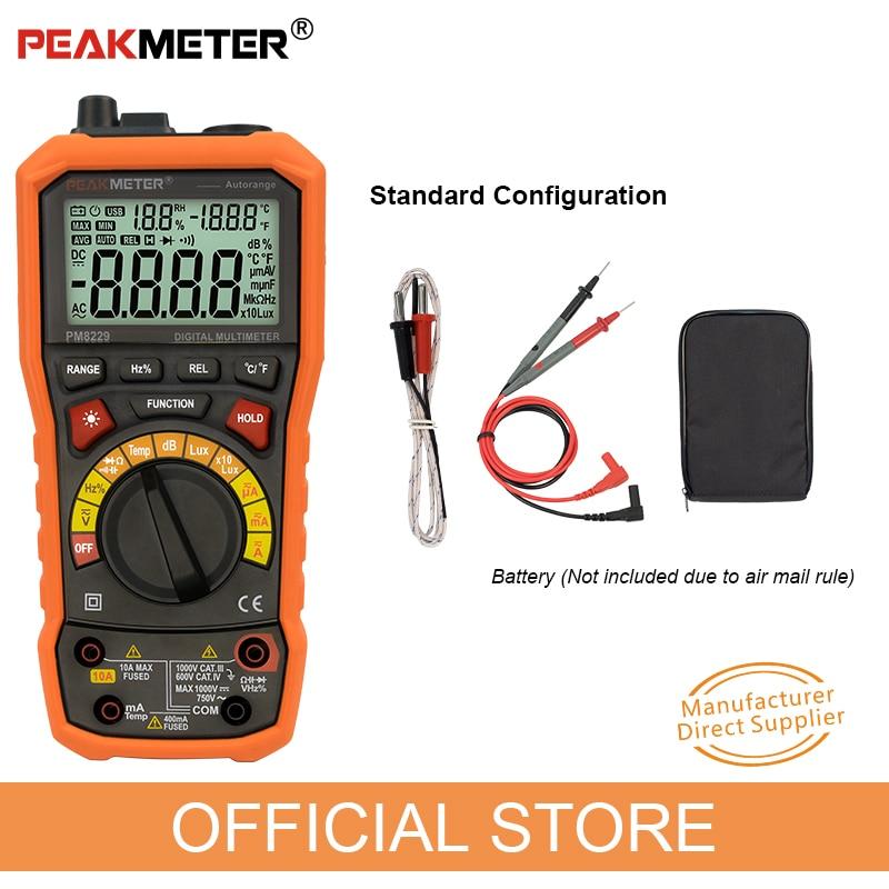 PEAKMETER PM8229 5-ühes automaatne digitaalne multimeeter koos - Mõõtevahendid - Foto 6