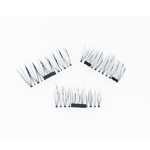 SEASHINE 4pcs/Pair 3D Fake Eyelashes False Lashes Magnetic Eyelash Extension human hair make up tools