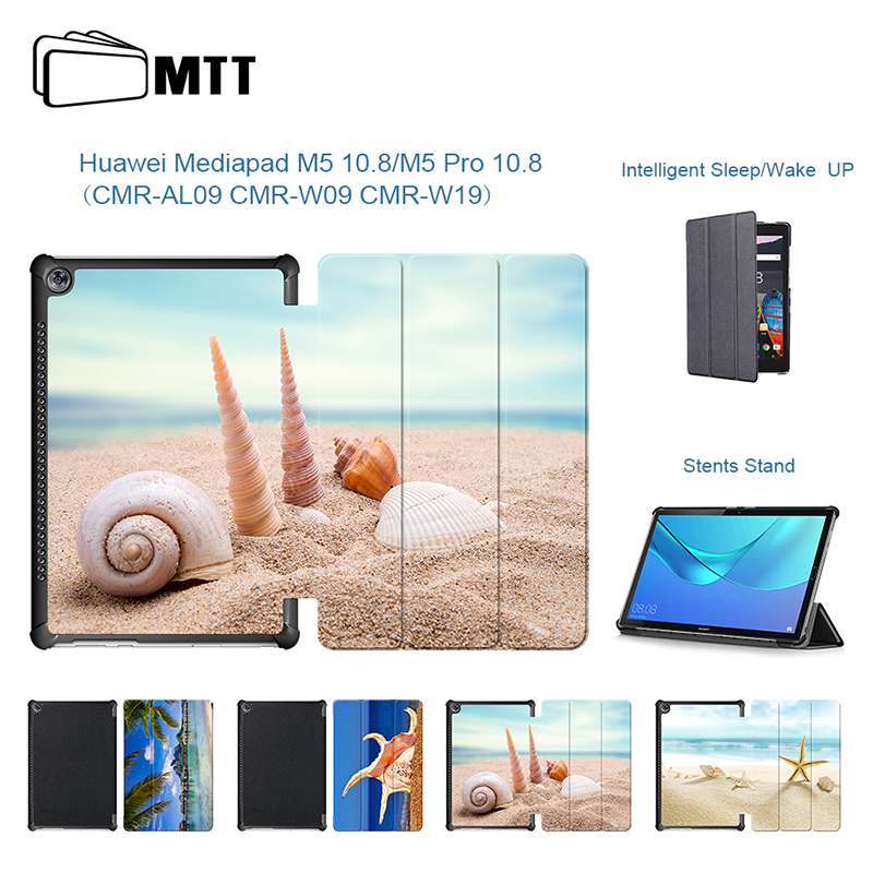 MTT Beach Conch Stand cover case for Huawei Mediapad M5 10.8 case cover for Huawei mediapad M5 Pro 10.8 CMR-AL09/CMR-W09/CMR-W19