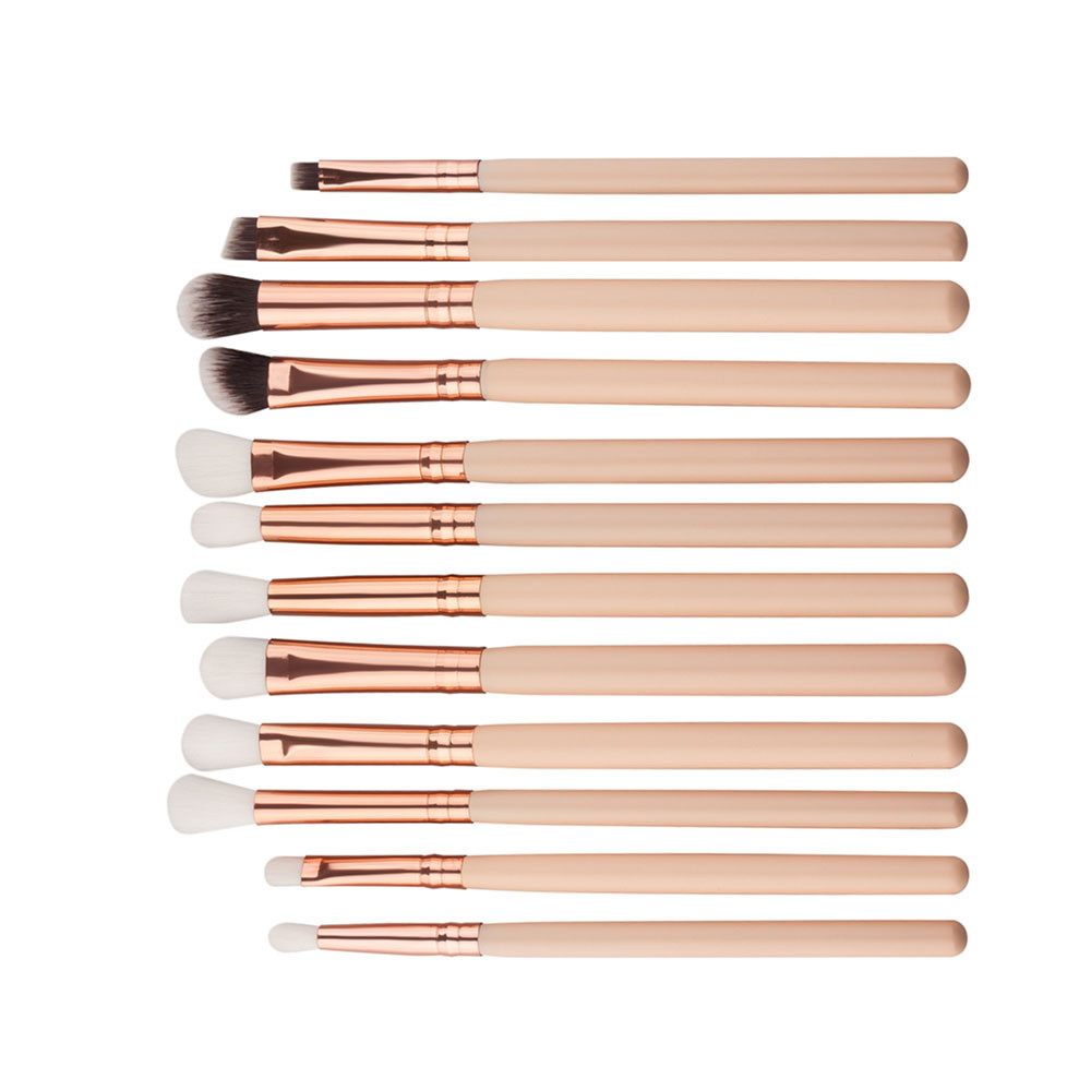 12PCS/Set Pro Wooden Handle Makeup Brushes Set Foundation Powder Eyeshadow Eyeliner Lip Brush Tool Kit Drop Shipping Wholesale