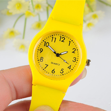 Cindiry High Quality Women's Candy Jelly Color Faux Leather Quartz Analog Dress Wrist Watch P0.2