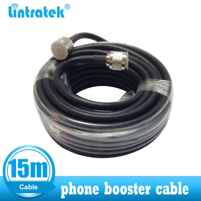Lintratek 15 M Cable Coaxial Cable For Connecting With Cellular Phone Signal Repeater Booster Amplifier N Male  Connector RG60