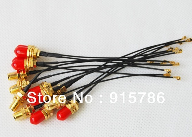 Free shipping IPX to SMA adapter cable / SMA outer spiral inner needle modified line / router antenna conversion line , 17cm
