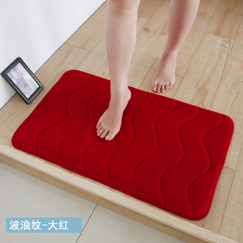 Bathroom Carpet Super Absorbent Washroom Mat 40*120CM Living Room Hall Rug Washed.
