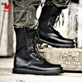 Z. Suo High Quality Genuine Leather Men Boots Black Military Boots Tactical Boots Army Boots Men botas Leather Shoes