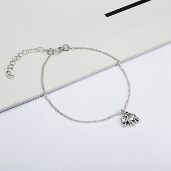 NS51 Vintage Multiple Layers Anklets for Women Elephant Sun Pendant Charms Rope Chain Beach Summer Foot Ankle Bracelet Jewelry 4