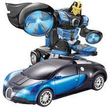 Электрический Rc деформация автомобиля Вождение спортивные автомобили привод трансформация RC модели роботов пульт дистанционного управления RC Боевая игрушка подарок