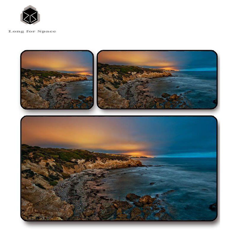 SJLUHS Dawn Coastal Large Gaming Mouse Pad High Quality Expansion Mousepad Profession Free Shipping