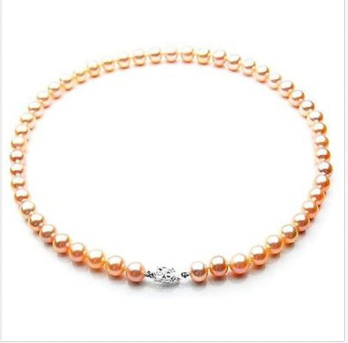 gorgeous 9-10mm south sea natural gold pink necklace 18inch 925sgorgeous 9-10mm south sea natural gold pink necklace 18inch 925s
