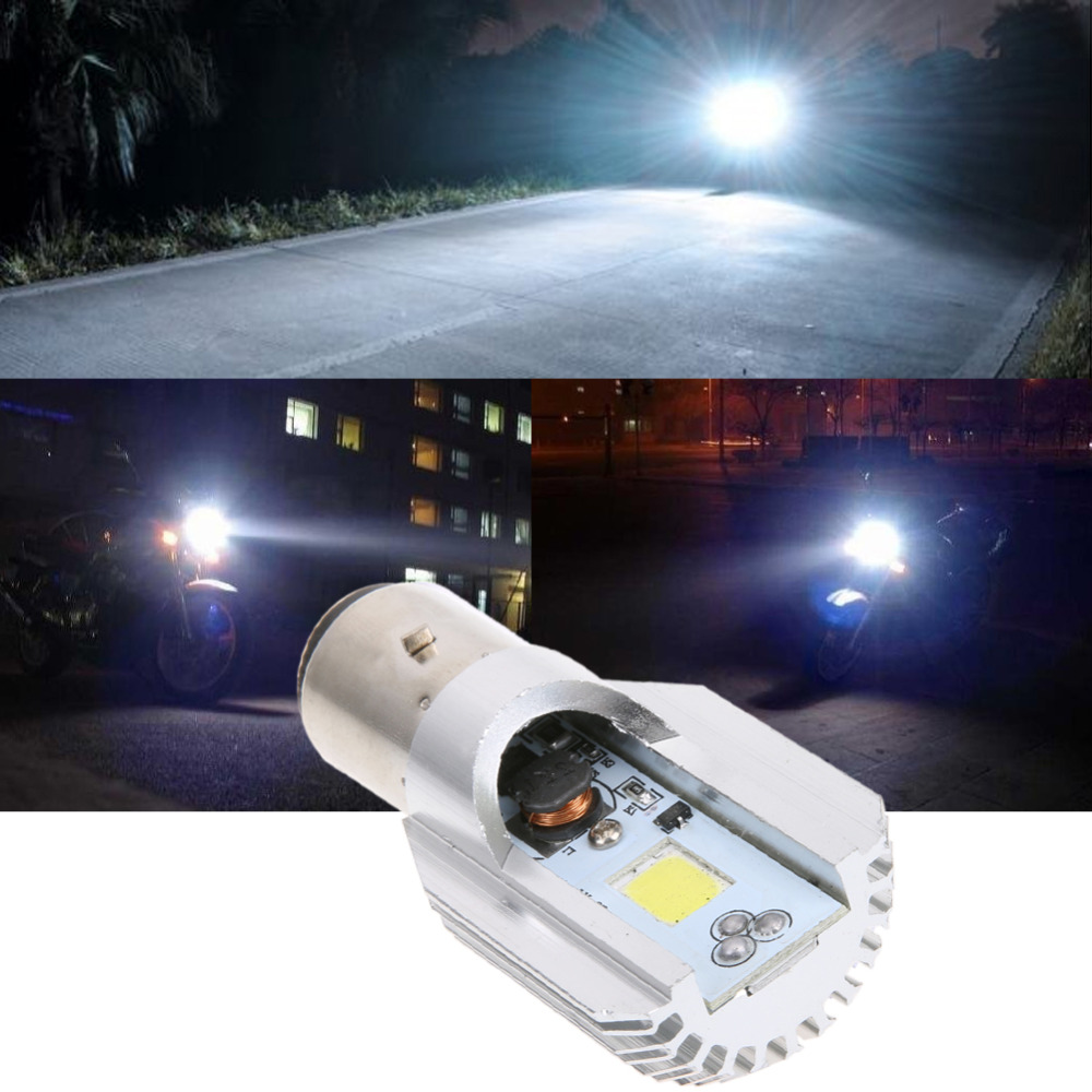 Newest H6 Led Motorcycle Headlight Bulbs COB 1000LM BA20D Led H L Lamp Scooter ATV Motorcycle