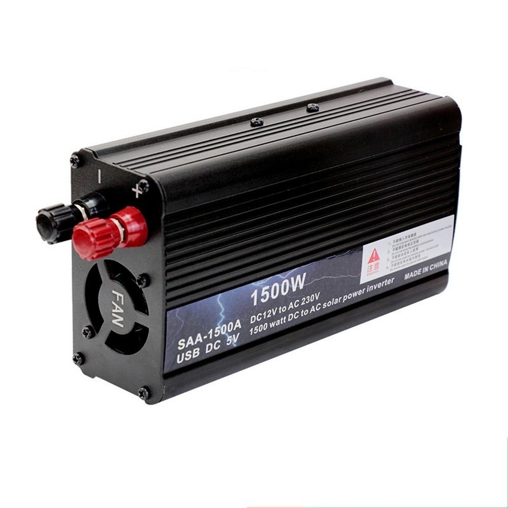 Car Inverter 1500W Modified Sine Wave DC 12V to AC 110V 220V 50Hz/60Hz Portable Power Cars Inverters Accessories