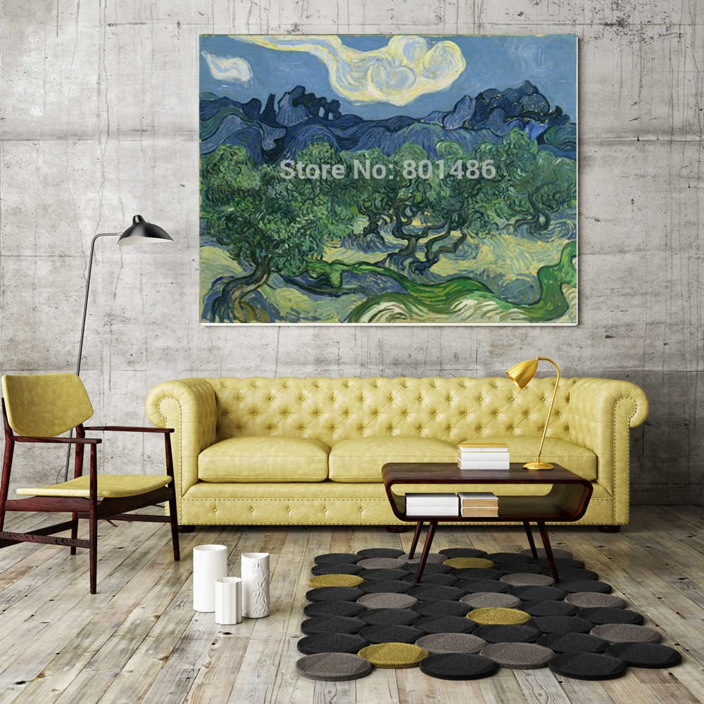 Olive Green Wall Decor Us 10 12 8 Off Vicent Van Gogh Olive Trees Wall Art Canvas Printed Home Decor Green Tree Landscape Painting Print On Canvas Office Wall Decor In