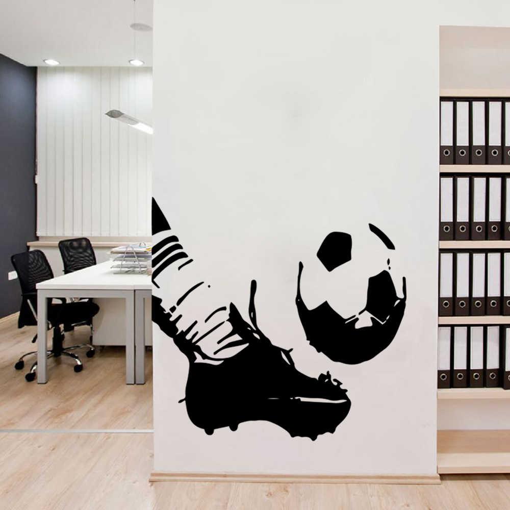 芸術サッカー壁ステッカーを再生するビニールの壁のステッカー子供