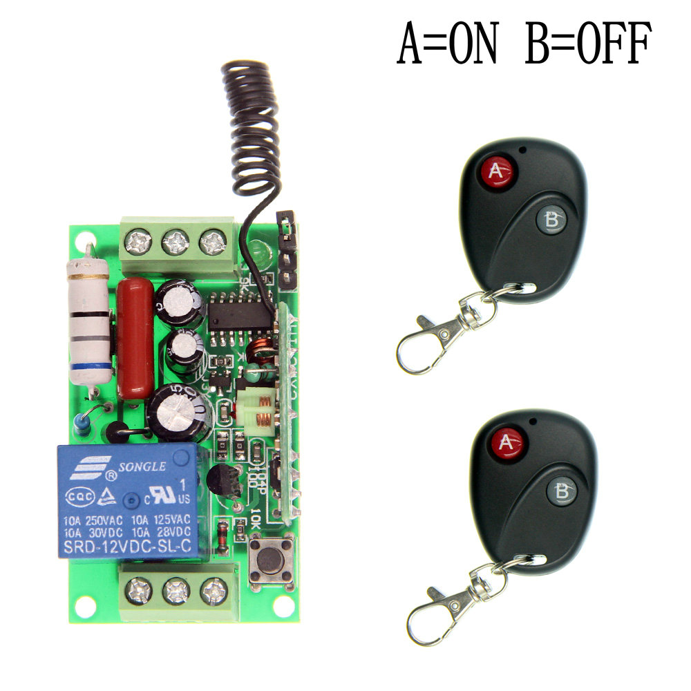 AC 220V 110V 10A Relay Receiver Transmitter Light Lamp LED Remote Control Switch Power Wireless ON OFF Key Switch ac 85v 250v wireless remote control switch remote power switch 1ch relay for light lamp led bulb 3 x receiver transmitter
