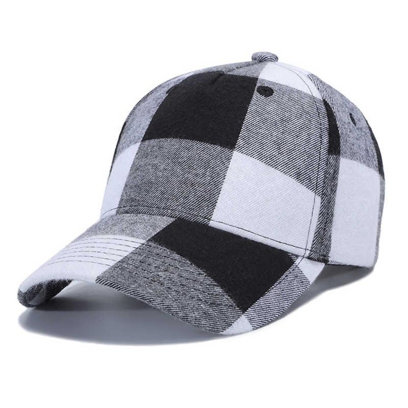 8c4c2cfe3f1 ... Red Plaid Baseball Caps 2019 Women Men Summer Dad Cap Women Snapback  Ponytail Hat Hip hop ...