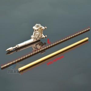 Image 2 - Левый/правый гибкий кабель 6,35 мм, опора из нержавеющей стали, вал привода для собаки, опора из латуни, пластиковая трубка, кронштейн для радиоуправляемой лодки