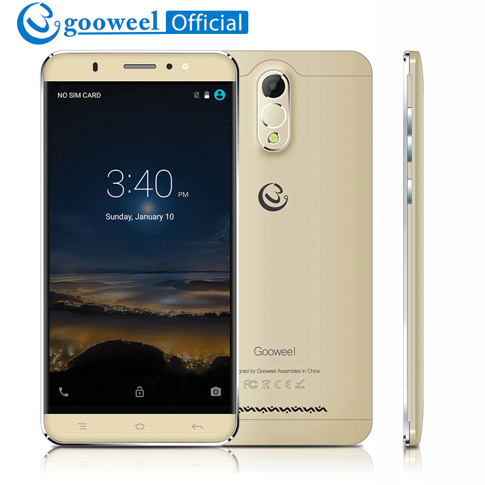 Gooweel M3 Smartphone 6.0inch IPS Screen MTK6580 Quad Core 1GB+8GB 3G Cell phone 5MP+8MP Camera GPS Mobile phone 3200mAh Battery