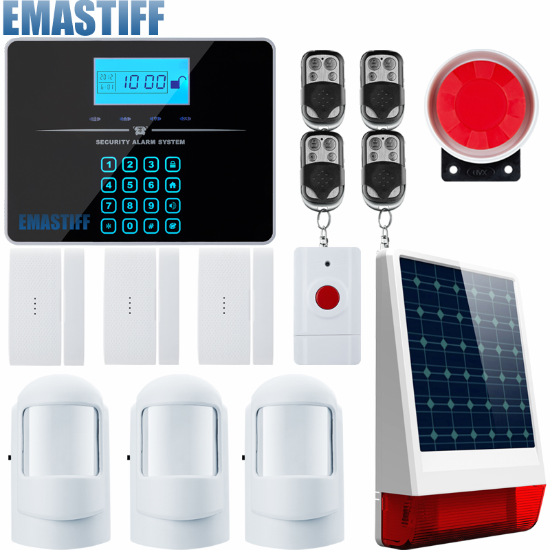 Touch Keypad Android IOS APP 433Mhz Sensor Dual-network GSM PSTN Call LCD Smart Display Home Burglar Security Alarm