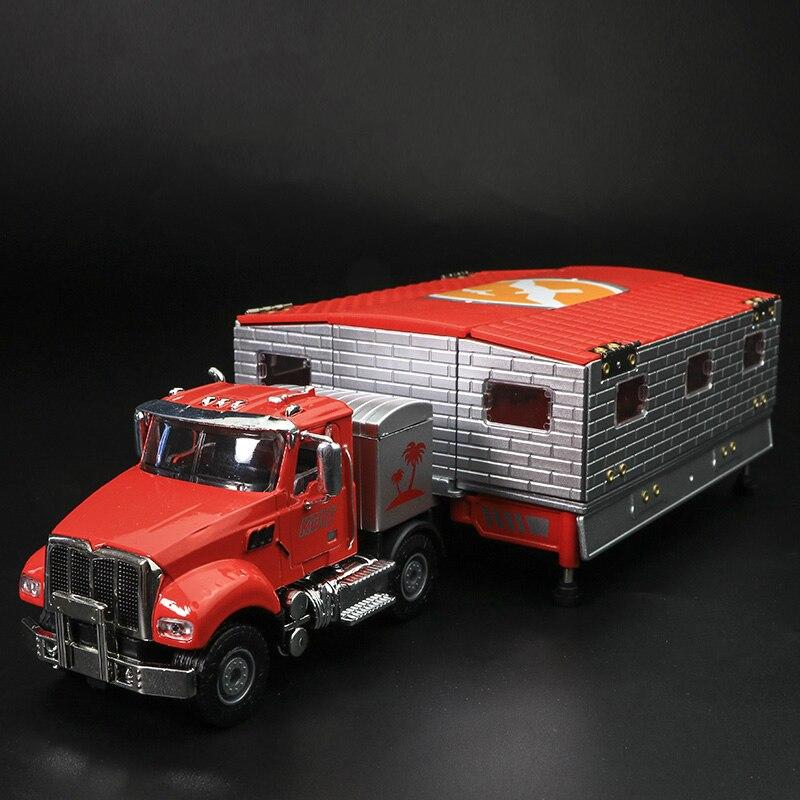 Transformation voyage RV voiture de simulation enfants voiture en jouet alliage modèle voiture jouet garçons cadeau RV acousto-optique jouet pour enfant modèles de voitures