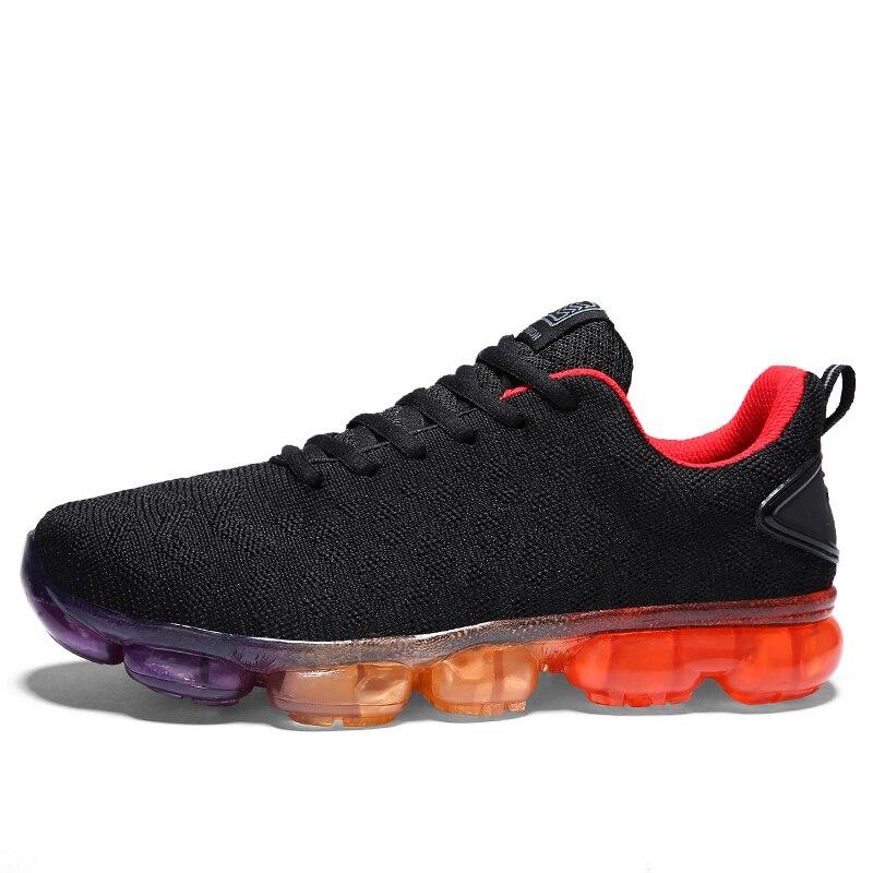À Respirant Noir blanc Automne Qualité Sneakers Sneaker Chaussures Hommes Hombre Tricoter Zapatillas Plat gris Occasionnels Mode Printemps 2018 nfqz4xx