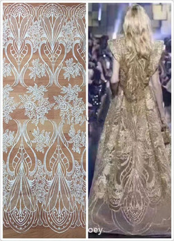 fashion african net lace fabric Top quality SYJ-1143 pretty french net lace fabric for wedding