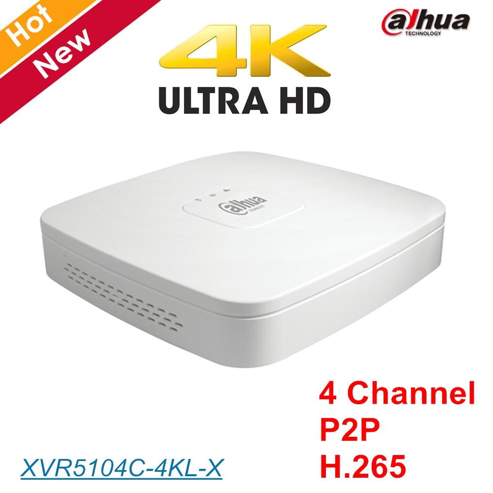 Dahua 4K 4 Channel XVR5104C-4KL-X Smart 1U Digital Video Recorder H.265+/H.265 HDMI p2p dahua XVR for cctv ip system
