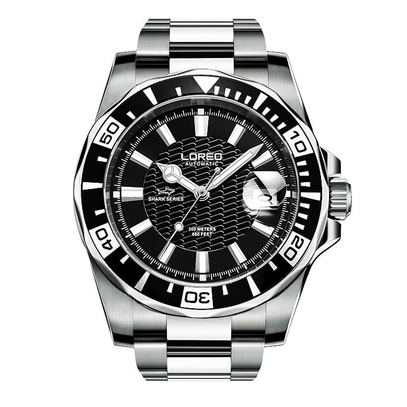 Здесь можно купить  LOREO 9202 Germany diver 200M oyster perpetual explorer automatic luminous thin waterproof hollow sapphire glass men fashion  Часы