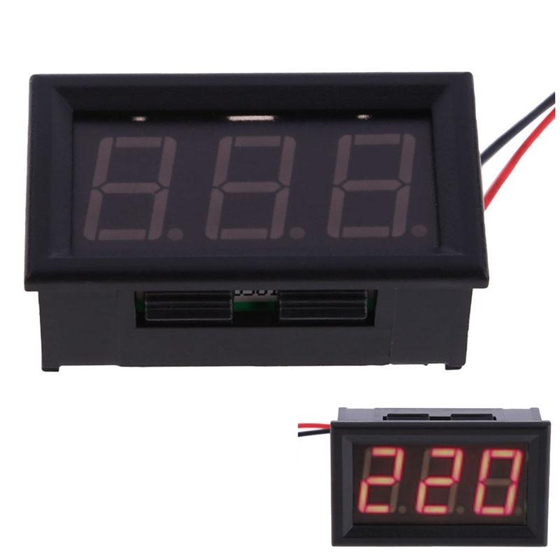 Red LED AC60-300V Digital Voltmeter LED Voltage Display Panel w/ 2 Wires 0.56 inch LED Digit Voltmeter