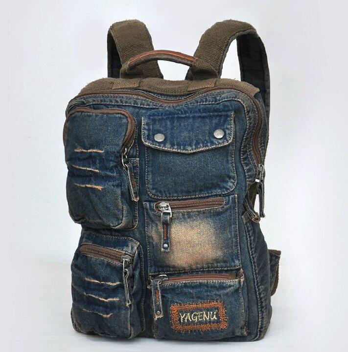 ETN sac marque de haute qualité offre spéciale meilleur vendeur hommes sac à dos homme mode denim voyage sac à dos homme vintage sac de voyage