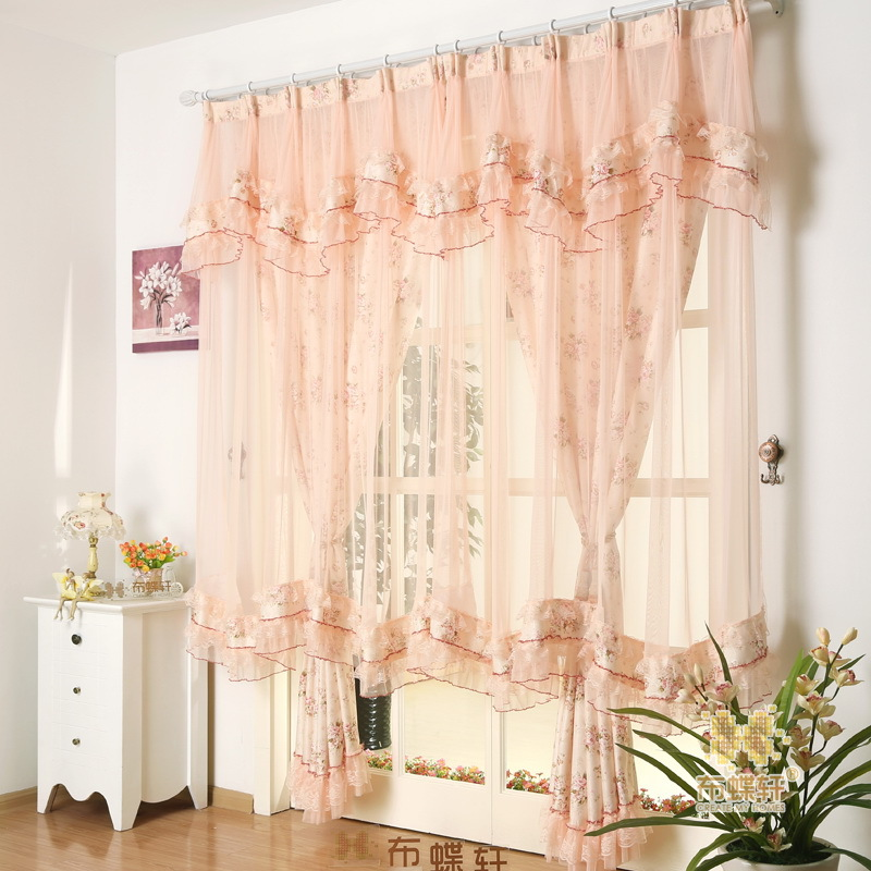 Super Fairy Lace Jacquard Curtains For Living Dining Room Bedroom Korean Rural Married The Princess