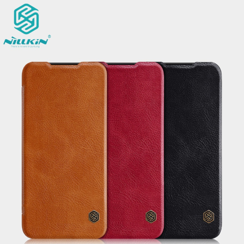 10pcs lot Wholesale NILLKIN Qin Series Wallet Flip Leather Case For Xiaomi Redmi Note 7 Genuine