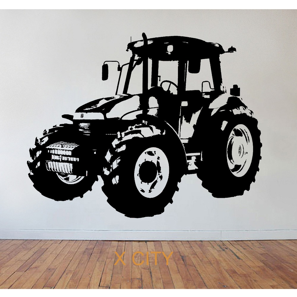 Childrens tractor farming wall art sticker vinyl transfer decal childrens tractor farming wall art sticker vinyl transfer decal window door kids room stencil mural decor s m l xl in wall stickers from home garden on amipublicfo Gallery