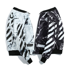 Vantanic 2018 Spring New Jacket Coat Fashion Printed High Street Outerwear Jackets Men Rib Stand Collar Autumn Casual Coat JTC77