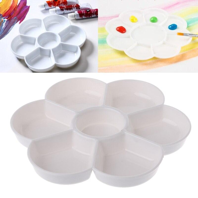 7 Holes Palette High Quality Acrylic Gouache Watercolor Paint Palette Plastic Paint Tray