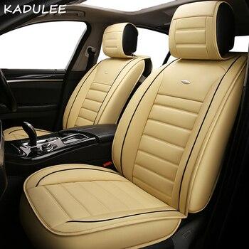 KADULEE pu leather car seat cover for fiat marea palio panda grande punto stilo uno tempra 500 500x auto accessories car-styling