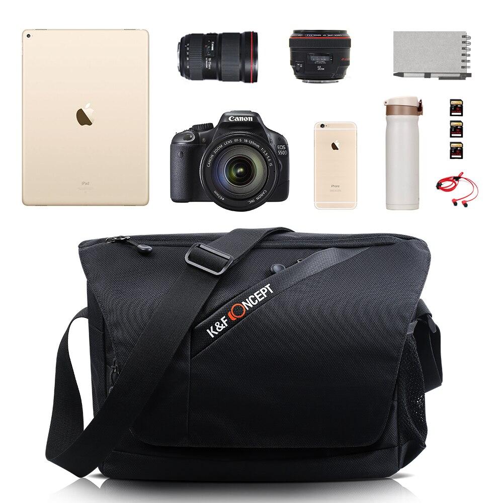 K & F CONCEPT Professionnel Noir 840D Nylon Caméra Épaule Sac Étanche DSLR SLR Sac à main Pour Nikon Canon Sony